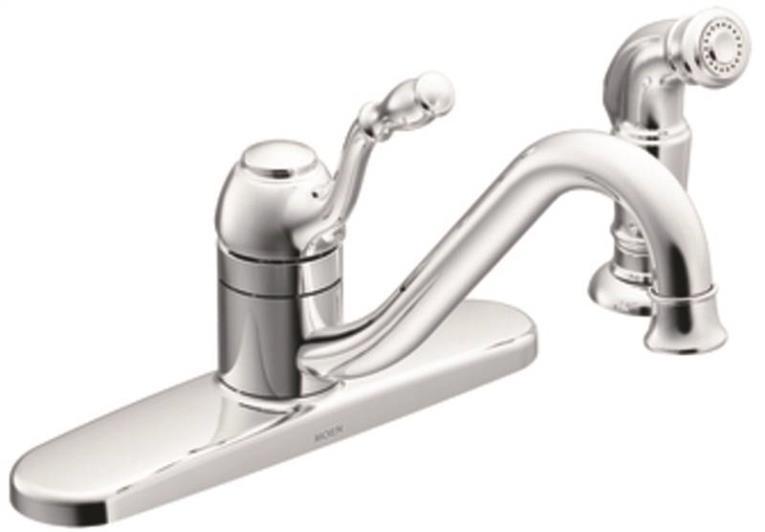 Kitchen Faucet Single Spray Chrome