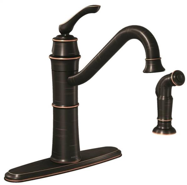 Kitchen Faucet Single Spray Bronze