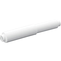 Moen Contemporary Toilet Paper Holder, 1 in W X 1 in H, Wall, Pivoting Mount, Orientation Horizontal, Plastic