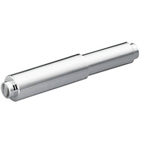 Moen Contemporary Spring Rod Toilet Paper Holder, 6 in W X 1 in H, Orientation Horizontal, Plastic, Chrome Plated