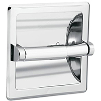 Moen Commercial Contemporary Recessed Toilet Paper Holder, 6-1/4 in W X 6-1/4 in H X 2-3/4 in D, Wall Mount