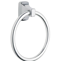Moen Donner Contemporary Towel Ring, 22 lb 7 in H, Zinc Ring Post, Aluminum Ring, Chrome Plated