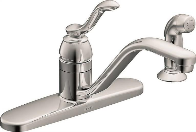 Banbury One-Handle Low Arc Kitchen Faucet, Chrome