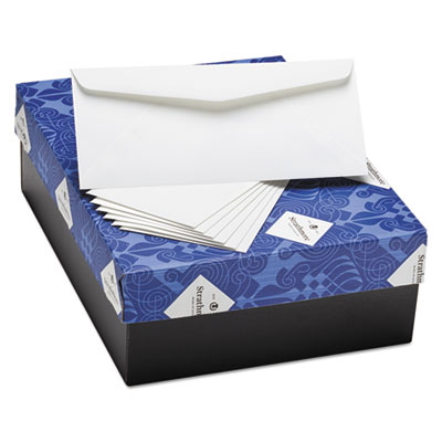 25% Cotton Business Envelopes, Ivory, 24 lbs, 4 1/8 x 9 1/2, 500/Box