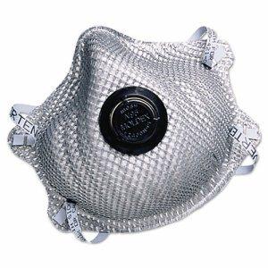2400N95 Series Particulate Respirator, Half-Face Mask, Medium/Large, 10/Box