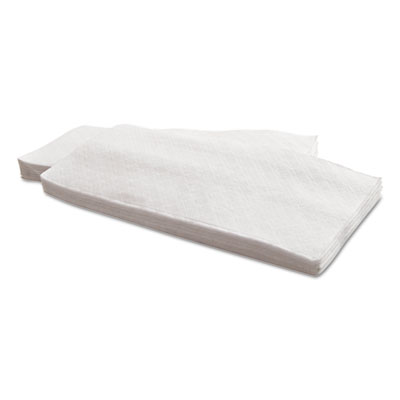 Dinner Napkins, 1-Ply, 15 x 17, White, 141/Pack, 32 Packs/Carton