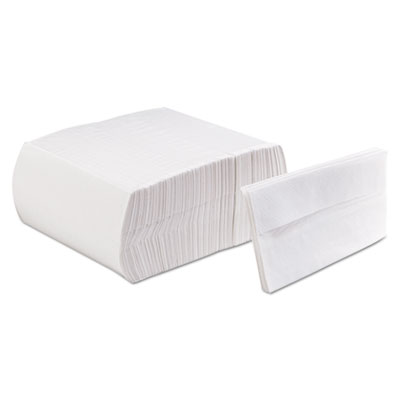 Tall-Fold Embossed Napkins, 1-Ply, White, 13 1/2 x 7, Paper, 9000/Carton