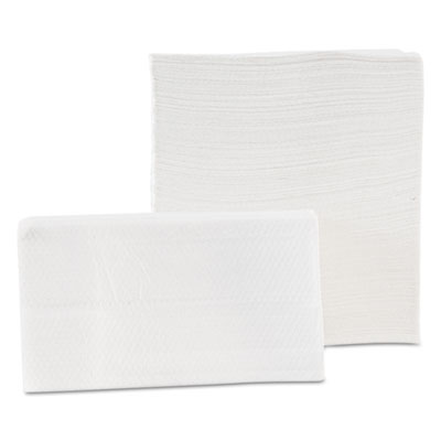 Tall-Fold Napkins, 1-Ply, 7 x 13 1/2, White, 500/Pack, 20 Packs/Carton