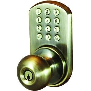 Morning Industry Inc Hkk-01Aq Touchpad Electronic Door Knob (Antique Brass)