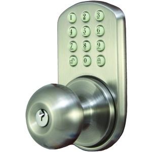 Morning Industry Inc Hkk-01Sn Touchpad Electronic Door Knob (Satin Nickel)