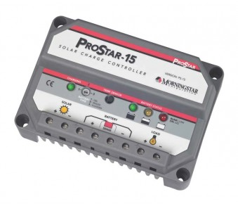 MORNINGSTAR, PS-15, PWM CONTROL, PROSTAR CHARGE/LOAD CONTROL 15A 12-24V