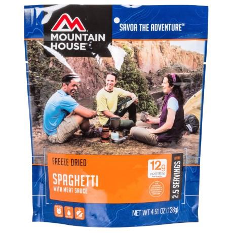 Mountain House EntrTe, Spaghetti w/ Meat Sau