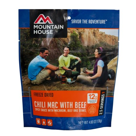 Mountain House EntrTe, Chili Mac w/ Beef