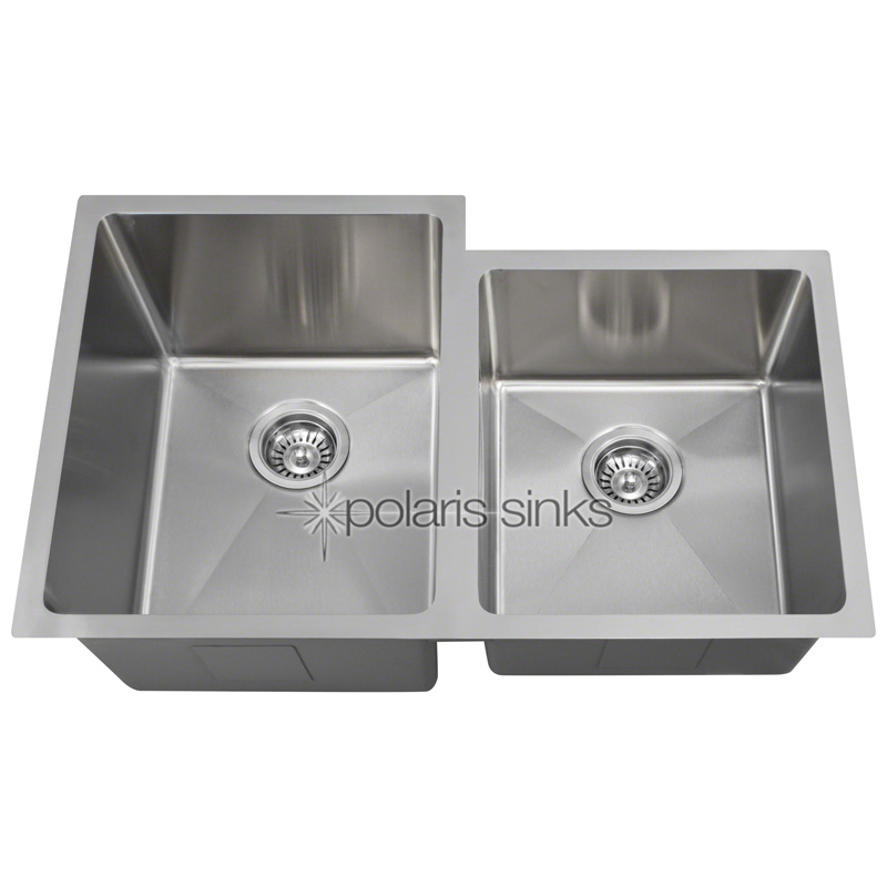 "Undermount Offset 3/4"" Radius Sink, Stainless Steel"