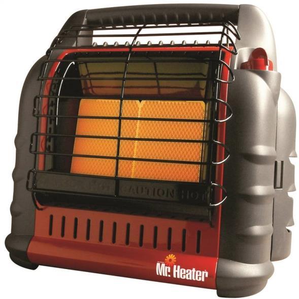 Big Buddy F274865 Portable Heater, 4000/9000/18000 BTU, 400 sq-ft, Propane