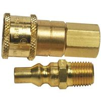 Gas Mate F276190 Quick Connector, Acme Nut X 1-20 MPT, For Use With Propane/Natural Heaters