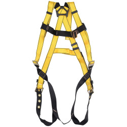 MSA Extra Large Workman+ Vest Style Harness With Tongue Buckle Leg Strap And Stand Up D Ring