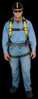 MSA Standard Construction Style Workman+ Harness With Qwik-Fit Chest Strap, Tongue Buckle Legs, Back And Hip D Rings, Back Pad W