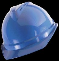 MSA Blue V-Gard+ Advance Class C Type I Polyethylene Vented Hard Cap With Fas-Trac+ 6-Point Suspension And Glaregard+ Underbrim