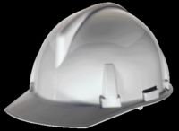 MSA White TopGard+ Class E Type I Slotted Hard Cap With 1-Touch+ Suspension