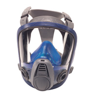 MSA Medium Black Silicone Advantage+ 3230 Full Face Twin Port Air Purifying Respirator With Rubber Head Harness