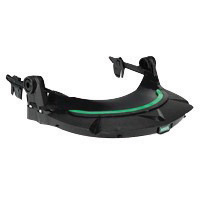 MSA Black Polyethylene V-Gard� General Purpose Visor Frame With 3 Point Suspension And Debris Control For Use With Slotted Caps