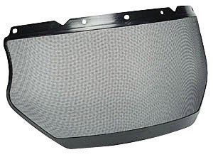 """MSA� V-Gard� 8"""" X 17"""" Epoxy Coated Steel Mesh Faceshield With Plastic Edge For Use With Earmuffs"""