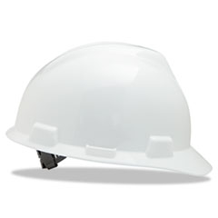 V-Gard Hard Hats, Staz-On Pin-Lock Suspension, Size 6 1/2 - 8, White