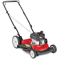 Yard Machines 11A-B0S5700 High Rear Wheel Push Mower, 21 in W x 1-1/4 - 3-3/4 in H Cutting, Powermore, 140 cc Gas