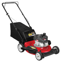 Yard Machines 11A-A2S5700 Lawn Mower, 21 in W x 1-1/4 to 3-3/4 in H Cutting, 140 cc 4-Cycle OHV Engine, 0.8 qt Gas