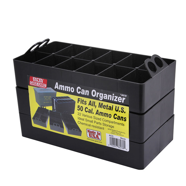 MTM Ammo Can Organizer Insert - Sold as 3-Pack 22 compartments Black