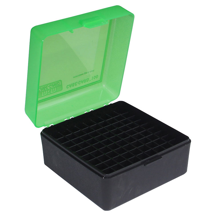 MTM Ammo Box 100 Round Flip-Top 22-250 243 308 Win 220 Swift  Black