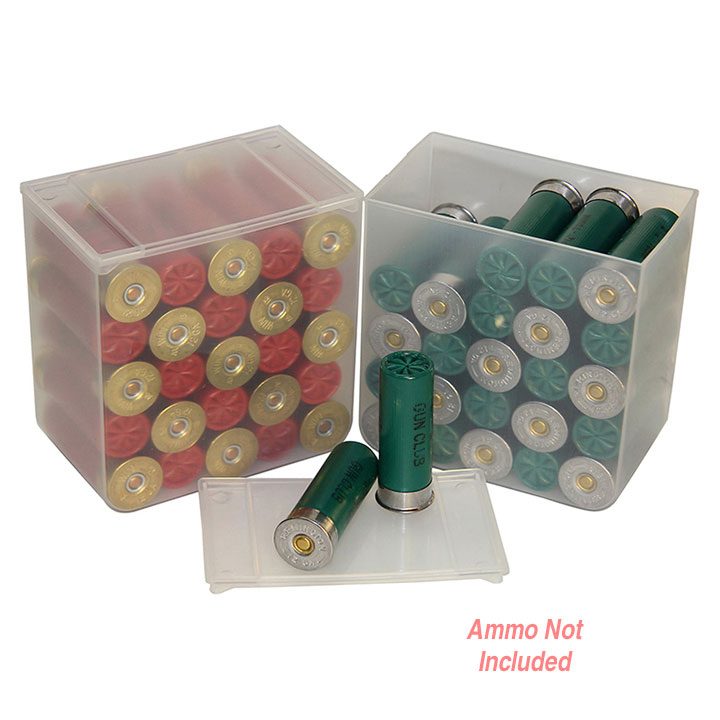 MTM 25 Round Shotshell Box sold as set of 4 Clear