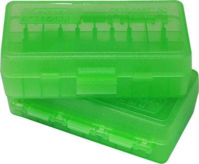 MTM Ammo Box 50 Round Flip-Top 41 44 45 LC Clear Green