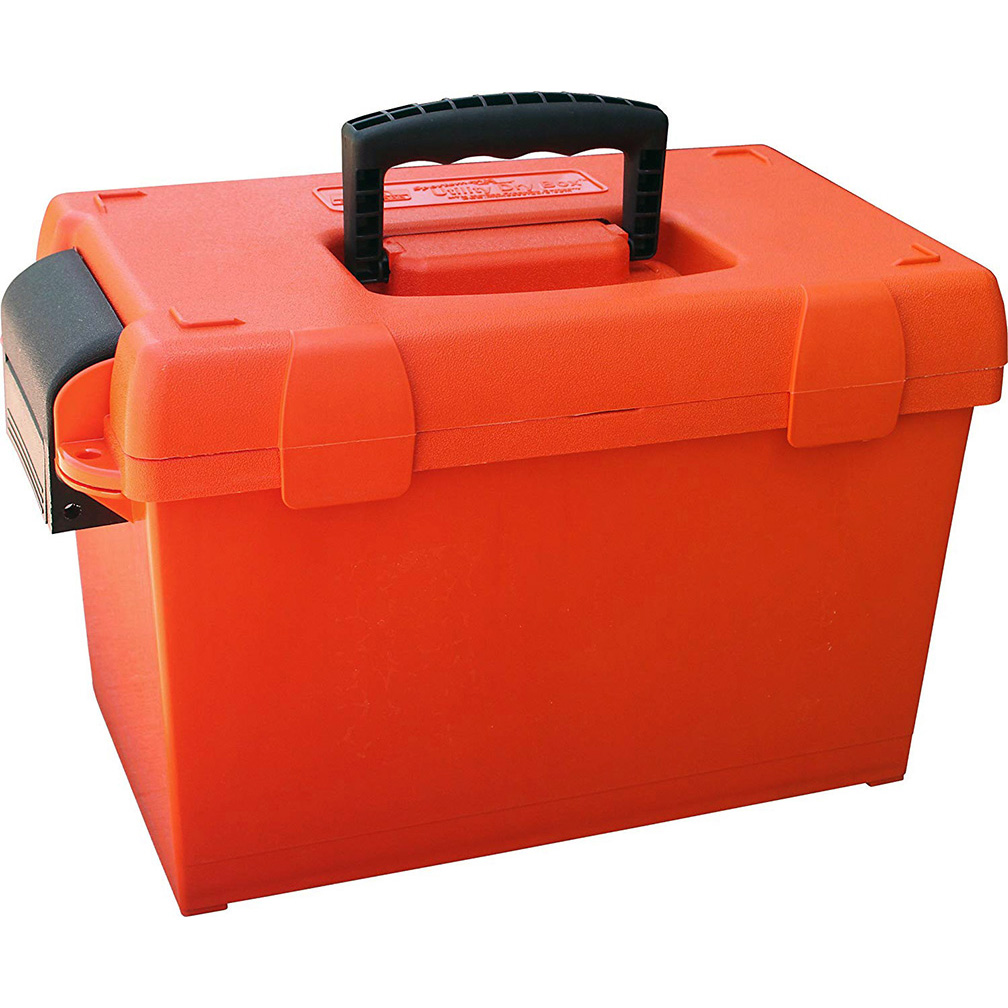 MTM Sportsmens Plus Utility Dry Box ORing Sealed 15x8.8x13In Orange