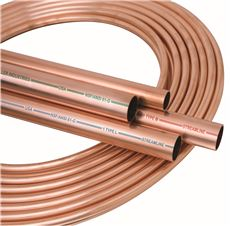 COPPER TUBING, TYPE K, SOFT, 3/8 IN. ID X 100 FT.