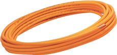 COATED COPPER TUBING, ORANGE, 3/8 IN. OD X 100 FT.