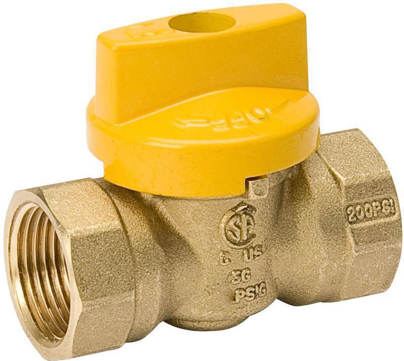 111525 1 IN. BRASS GAS BALL VALVE