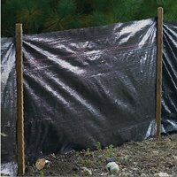 Mutual 14987 Economy Silt Fence, 100 ft L x 36 in W, 2 X 2 in Mesh, Fabric/Hardwood Stake