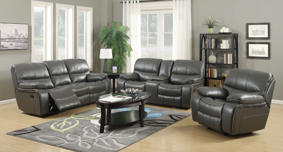Banner Gray Leather Gel Sofa