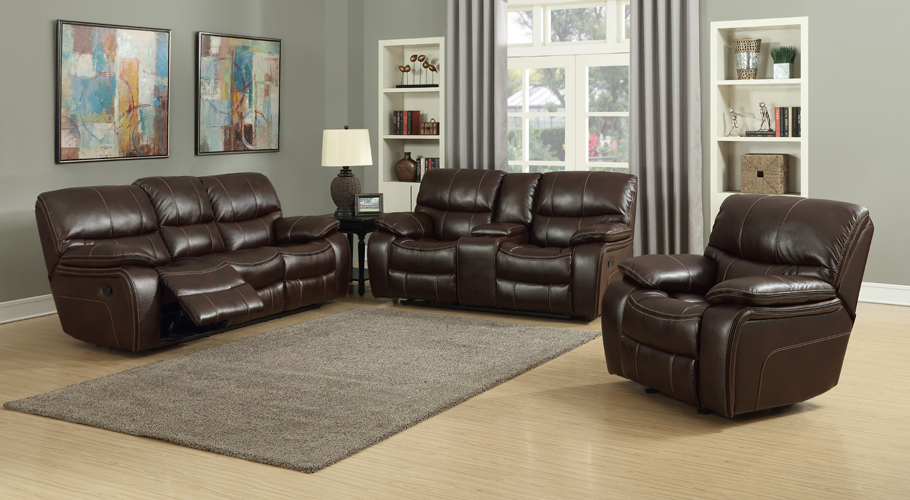 Banner Brown Leather Gel Loveseat