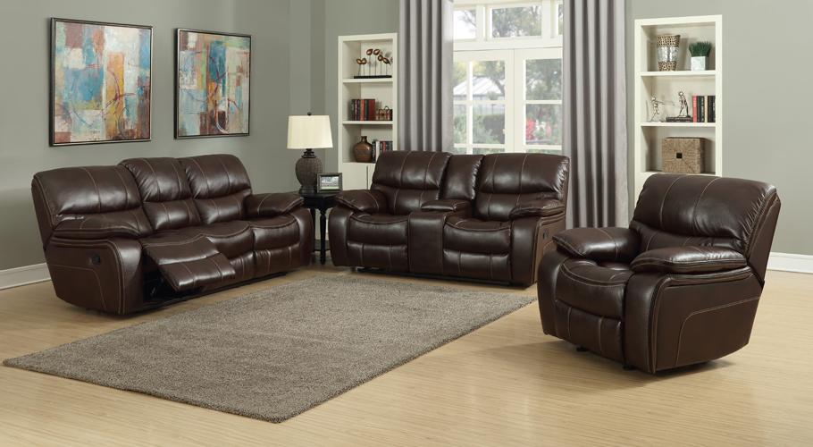 Banner Brown Leather Gel Sofa