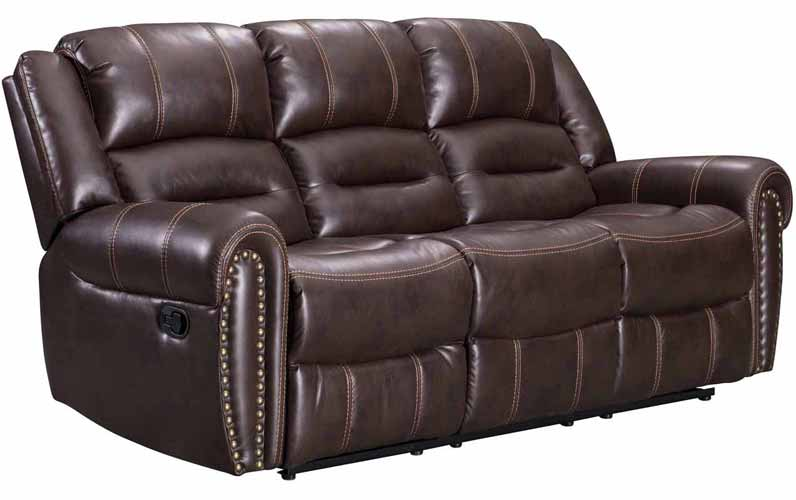 Braxton Sofa with Dropdwon Table, Brown