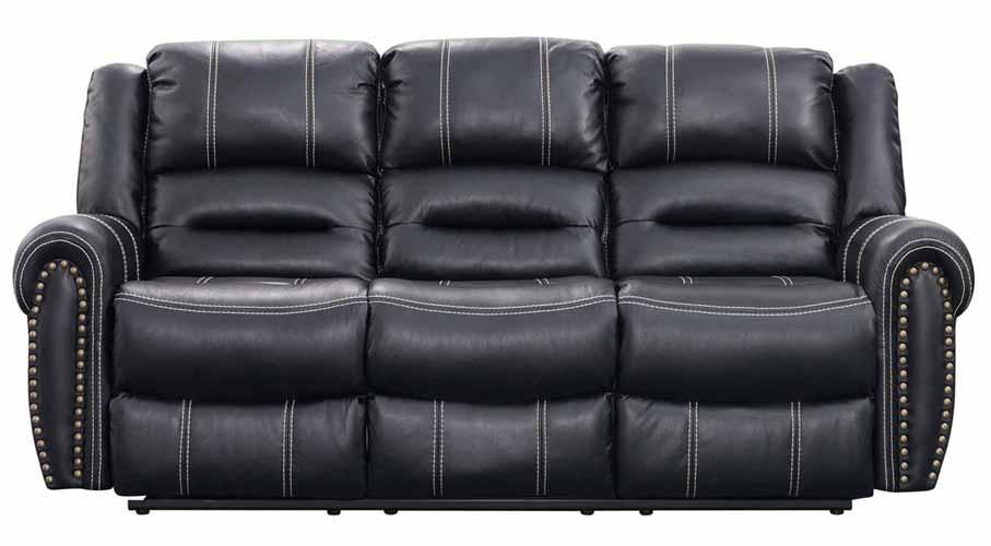 Braxton Sofa with Dropdown Table, Black