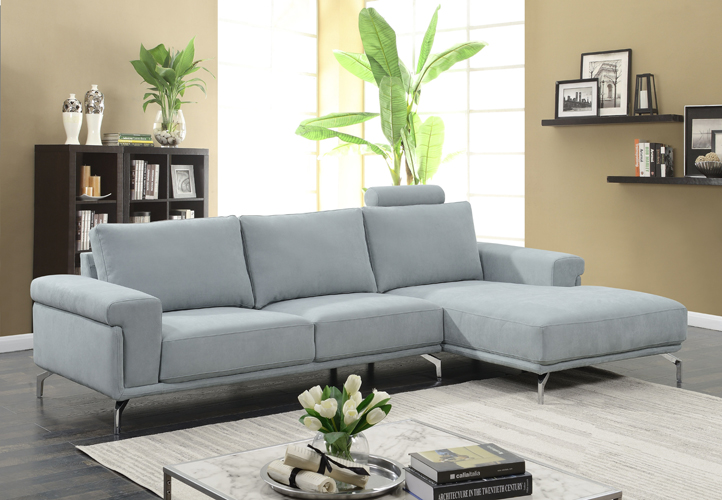 Jackson Fabric Sky Blue Sectional