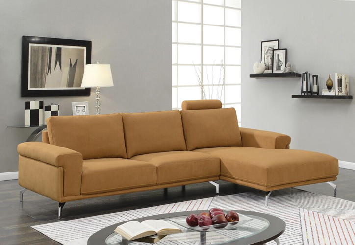 Jackson Fabric Mocha Sectional