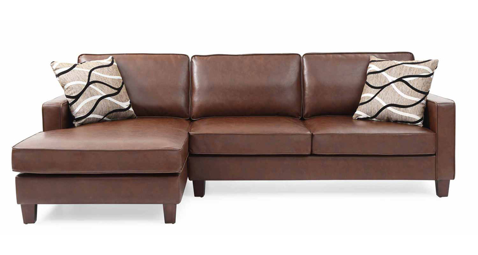 Glenbrook Espresso Faux Leather Sectional