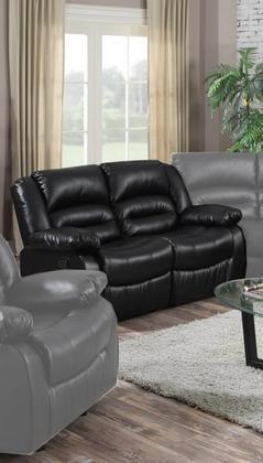 Eden Black Leather Recliner Loveseat