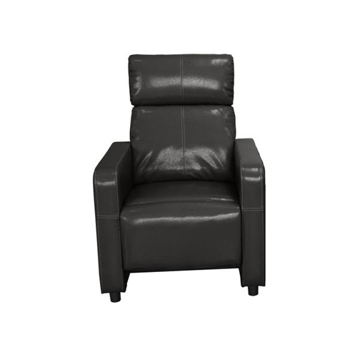 Arcadia Push Back Recliner Chair in Black Faux Leather