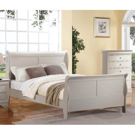 Louis Philippe Queen Bed, White
